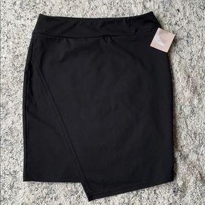 14th& union black pencil skirt
